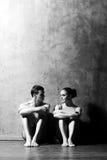 Baletniczy tancerze w sztuka występie Zdjęcia Stock