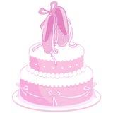 Baletniczych butów urodzinowy tort Zdjęcia Stock