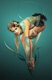 balett stock illustrationer