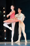 Balett i parkera royaltyfri bild