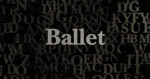 Balett - metallisk 3D som framfördes, satte rubrikillustrationen Royaltyfri Bild