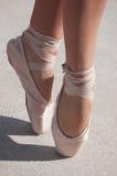 balett shoes toen Arkivbilder