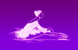 balettdansör vektor illustrationer