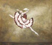 balettdansör som oilpainting Royaltyfri Foto