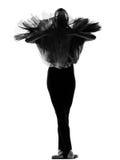 balettdansören poserar den plattform kvinnan royaltyfria bilder