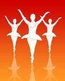 balettdansörgrupp royaltyfri illustrationer