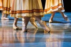 balettdansörhäftklammermatare Arkivbilder