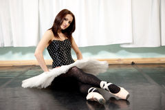 balettdansörkvinnlig Arkivbild