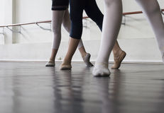 balettdansövning royaltyfri fotografi