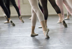 balettdansövning Royaltyfri Foto