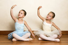 balettflickor royaltyfri foto