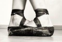 balettskor Arkivfoto
