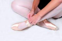 balettskor Arkivbilder
