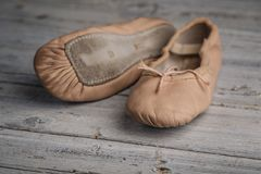 Balettskor royaltyfri foto