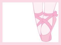 baletttåspetsarna Royaltyfria Bilder