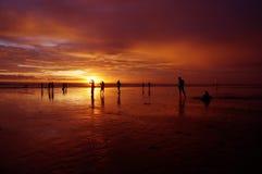 bali łodzi ryba hindus kształtuje teren oceanu zmierzch Obrazy Royalty Free