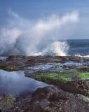 bali разбивая волна Индонесии Стоковое Изображение RF