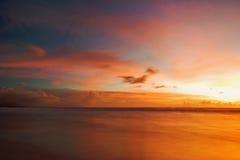 заход солнца bali Стоковая Фотография RF