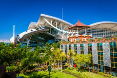 BALI, aéroport international de Denpasar sur l'île tropicale Bali Photographie stock libre de droits