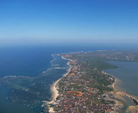 Bali from the Air 3. Photo of a the tropical resort island of Bali, Indonesia from the air Stock Photography