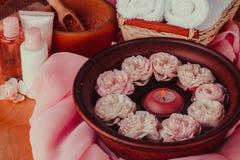 Bali aromata relaksu ręczniki w spa zdjęcia stock