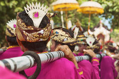 Bali background. Balinese people in traditional costumes stock image