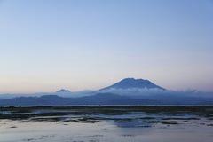Bali background volcano gunung agung indonesia Stock Photos