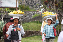 2012 in Bali, BALI – OCTOBER 17: Unidentified village women ca Stock Image