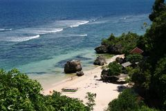 Bali beach. Photoed in famouse cliff located in Bali Royalty Free Stock Image