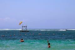 Bali beach. Fun sports ocean Stock Photography