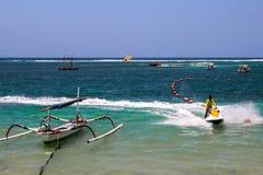 Bali beach. Fun sports ocean Royalty Free Stock Photo