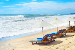 Bali beach lounge Royalty Free Stock Images