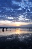 Bali beach at sunset Stock Photography