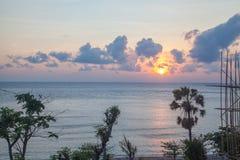 Bali. Beautiful sunrise in the clouds, Bali Royalty Free Stock Photo