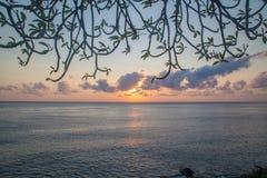 Bali. Beautiful sunrise in the clouds, Bali Stock Photo