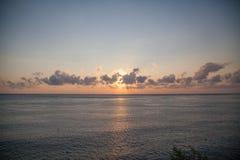 Bali. Beautiful sunrise in the clouds, Bali Royalty Free Stock Image