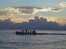 Bali boat. Fishing boat off the shore in Bali Royalty Free Stock Photos