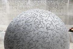 Bali-Bombardierungen Erinnerungs in London Stockbild