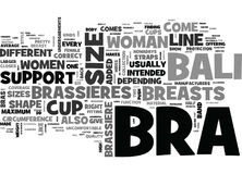 A Bali Bra Just For You Word Cloud Stock Image