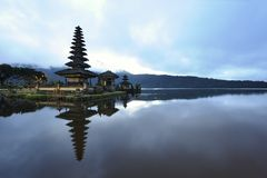 Bali Bratan lake Royalty Free Stock Images