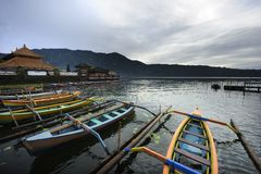Bali Bratan lake Royalty Free Stock Image