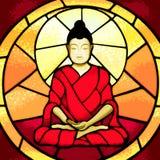 Bali Budda stain glass print Stock Image