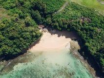Bali Chująca Tajna Tropikalna Plażowa antena obraz royalty free