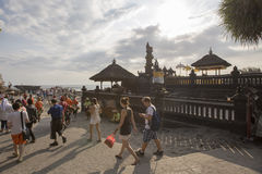 Bali, circa September 2015: The Tanah Lot Temple, the most important indu temple of Bali, Indonesia. Its attraction place in Bali Royalty Free Stock Image