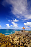 Bali coast. Coast scenery taken at Water Blow Nusa Dua, Bali Indonesia Royalty Free Stock Photo