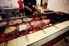 BALI - DECEMBER 30: preparing seafood at restaurant  on DECEMBER Stock Images