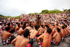 BALI - DECEMBER 30: traditional Balinese Kecak dance at Uluwatu Royalty Free Stock Photo