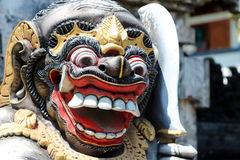 Bali Demon 1. Details of the face of a Balinese statue of a guardian god Royalty Free Stock Images