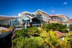 BALI Denpasar internationell flygplats på den tropiska ön Bali Fotografering för Bildbyråer