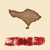 Bali distressed map. Royalty Free Stock Photography